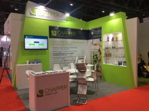 The CHAPPER healthcare stand at Arab Health